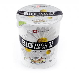 Jogurt Nature bez laktózy 200 g Bio Biedermann