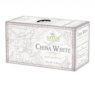 Bílý čaj China White 20 x 2 g GREŠÍK